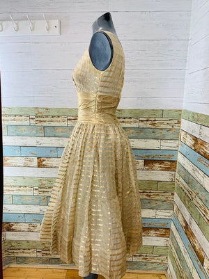 50s Lame Gold Dress  By Young Cosmopolitans