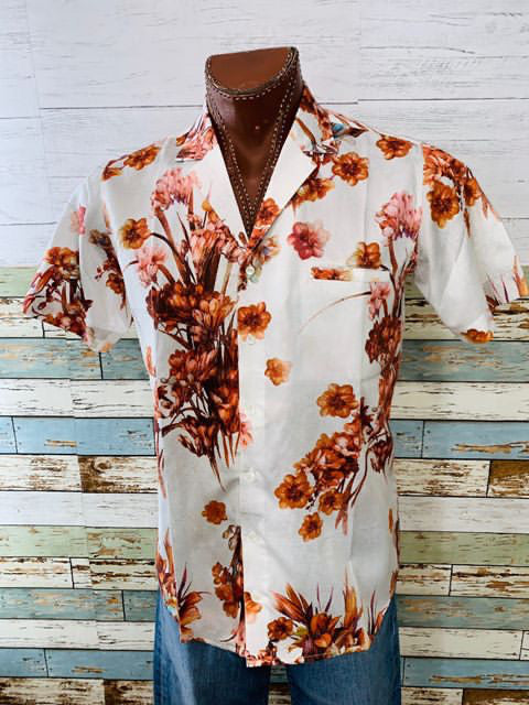 Varsos & Co. - Flower Print Short Sleeve Shirt - Hamlets Vintage