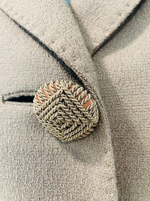 60s - Short Wool Jacket With Detail knit Buttons