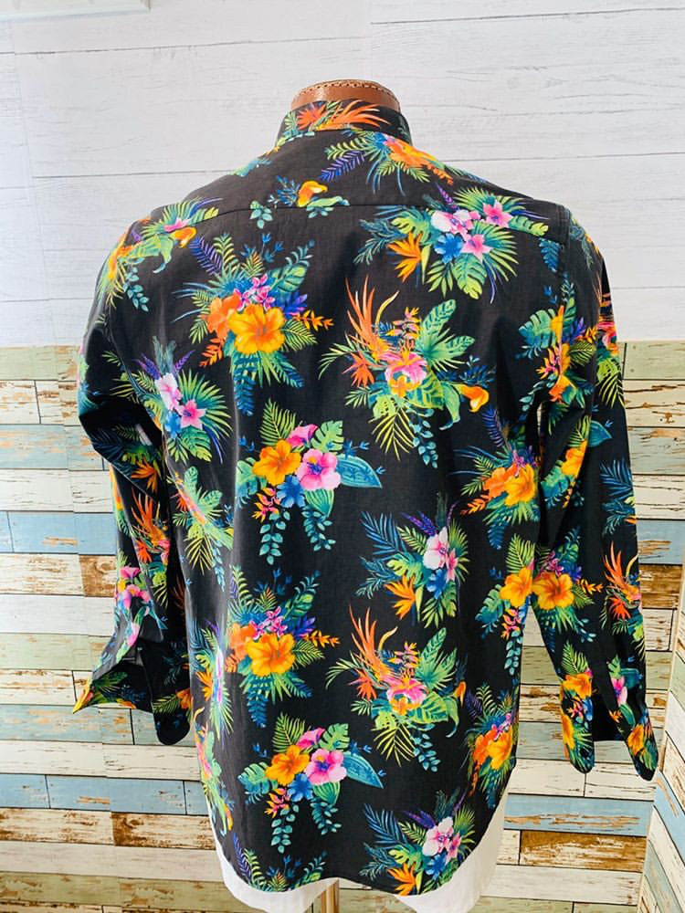 Paco Roca - Tropical Flowers | Long Sleeve Shirt - Hamlets Vintage
