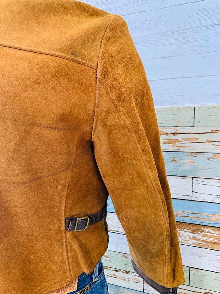 60s - Light Brown By Ideal | Leather Crop Jacket
