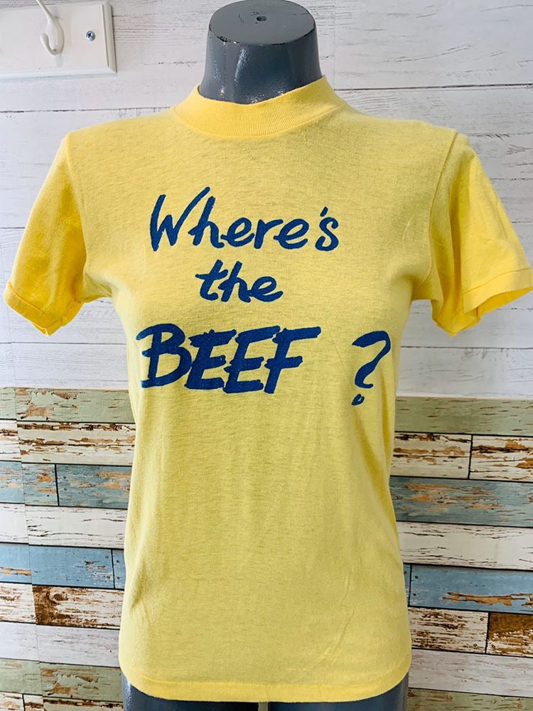 80s. Where's the Beef T-shirt