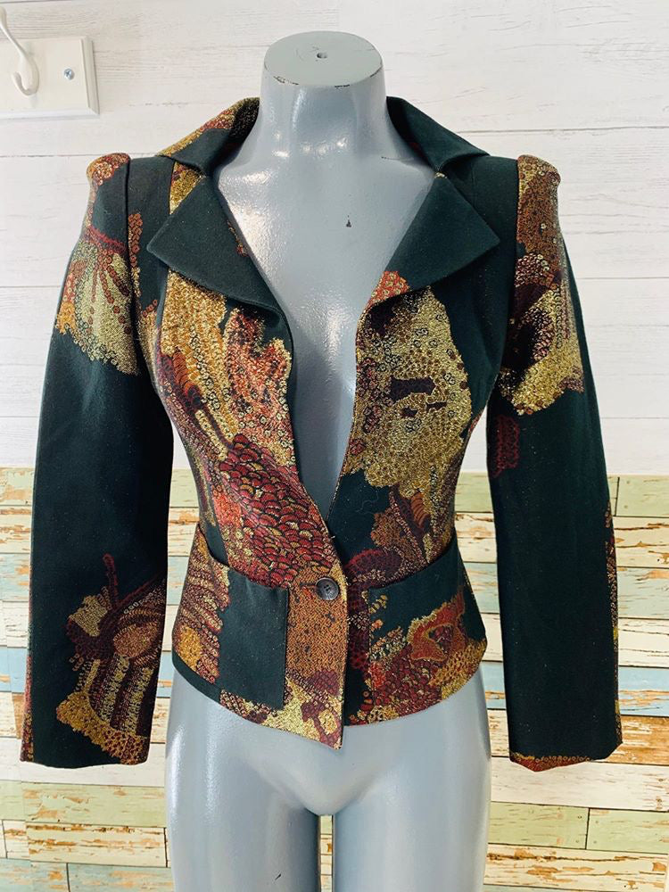 00s - Christian Lacroix Bazar Metallic Mix Blazer