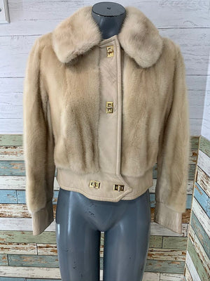 60s - Mink & Leather Short Coat