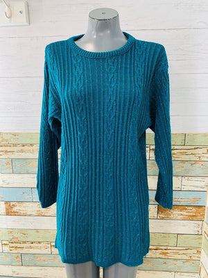 80's Acrylic & lurex Long Sleeve Short Dress Sweater  By Diane Von Furstemberg