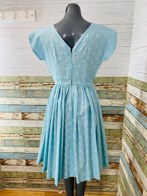 50s Cap Sleeve Mini Flower Print Dress