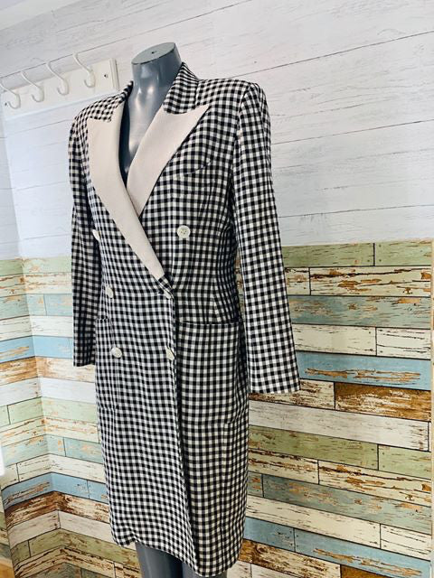 90s - Double Breasted Suit Dress By Lee Anderson