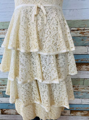 60s lace Dress With Layers  on Skirt By Jr.theme