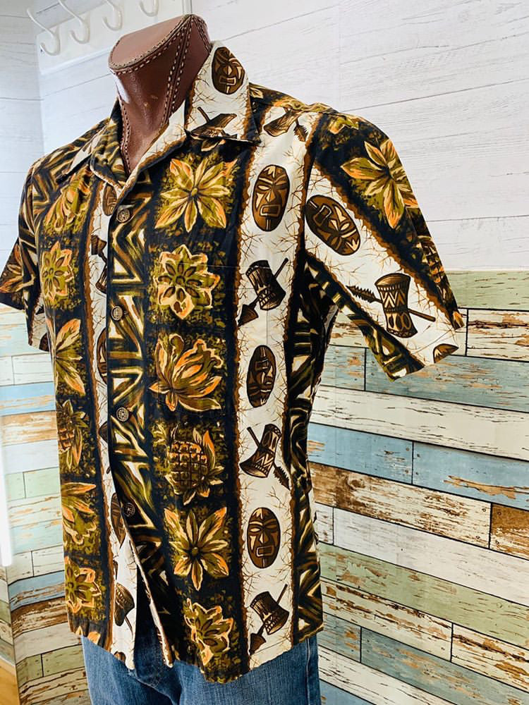 70s - Hawaiian Short Sleeve Shirt - Hamlets Vintage