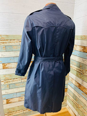 70s The Totes Nylon Trench Coat - Hamlets Vintage