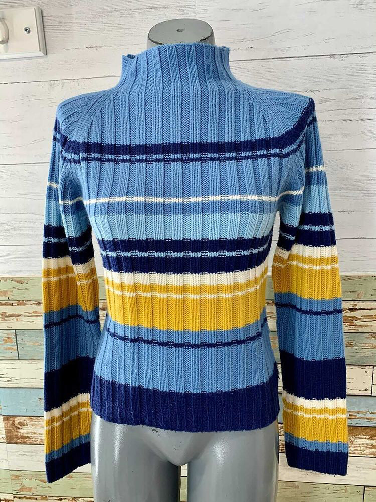 90s Multicolor Acrylic Stripe Sweater By One Step Up Size Large