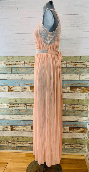 60s - Long Slip Pleaded & Lace - Hamlets Vintage