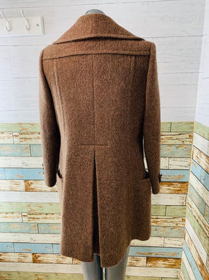 60s Double Breasted A line Wool Coat