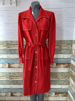 Long Sleeve Valdiri of Colombia | Trench Dress - Hamlets Vintage