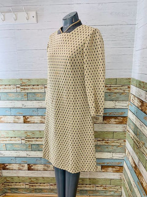 60s Long Sleeve A line Dress  By Dauphine