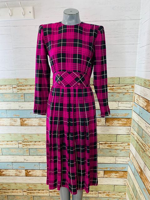 80s - Tartan Long Sleeve  By Karin Stevens petites