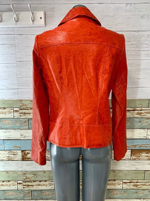 90s - Leather Jacket Zip - Hamlets Vintage