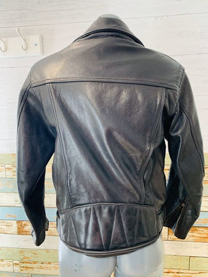 80s Biker Leather jacket - Hamlets Vintage