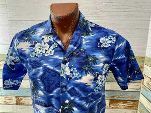 80s Hawaiian Short Sleeve Short  By Ky's  Tag Size Small