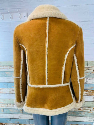 70s Zip Shearling Short Coat With Pockets  By Lady Six