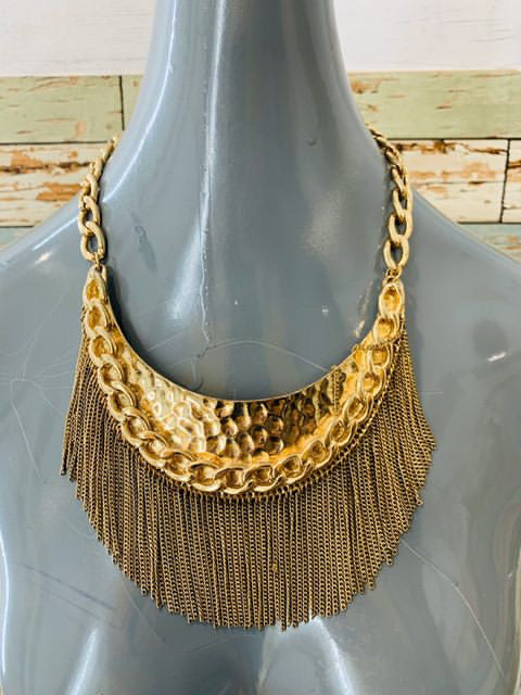 80s Heavy Fringe Necklace - Hamlets Vintage