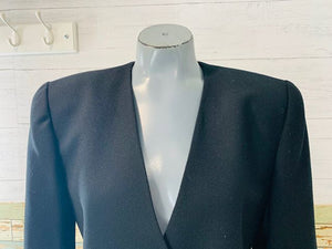 90s - Wool Jacket With One Rhinestone Button By P S I Alvin Bell