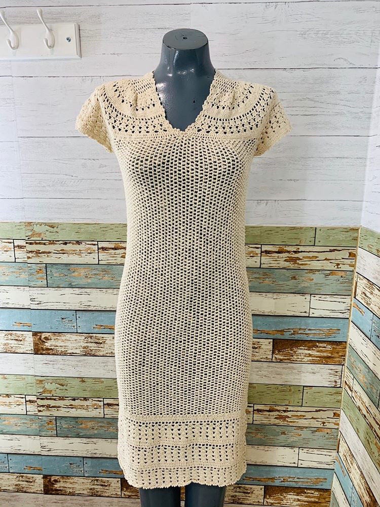 80s - Crochet Dress - Hamlets Vintage