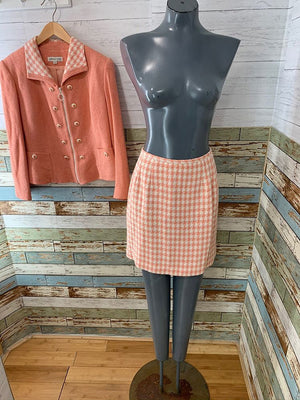 80s - 2 Piece Skirt Set with Zip Jacket By Jessica Ash