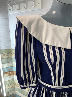 80s - Going 1940s Stripe Dress