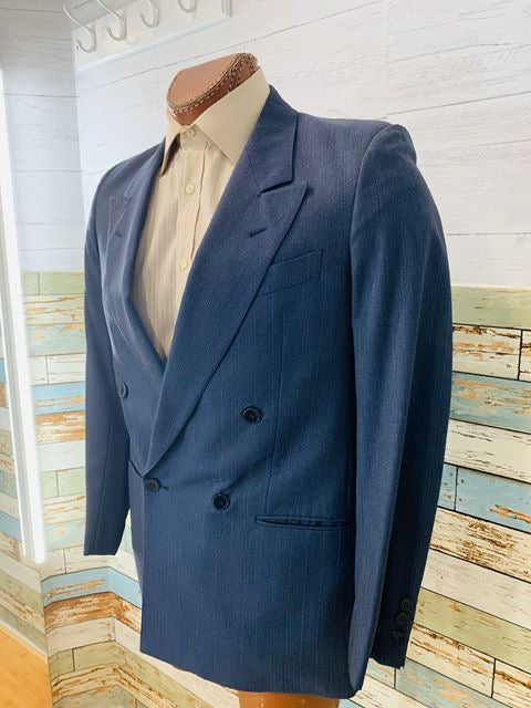 70s Double Breasted Suit With Pants - Hamlets Vintage