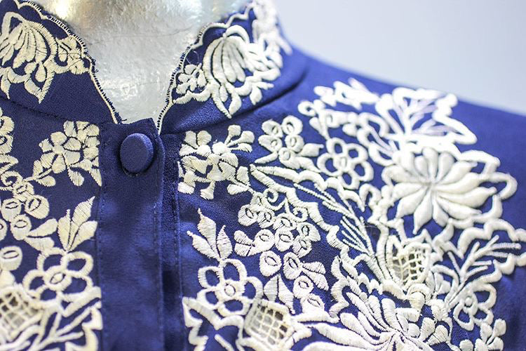 70s - Embroiled Blouse - Hamlets Vintage