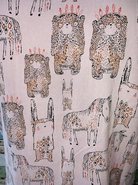 Vapsos & Co. - Animals Mix Print Short Sleeve Shirt - Hamlets Vintage