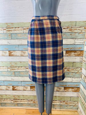 70s Tartan Wool  Mini Skirt By Pendleton