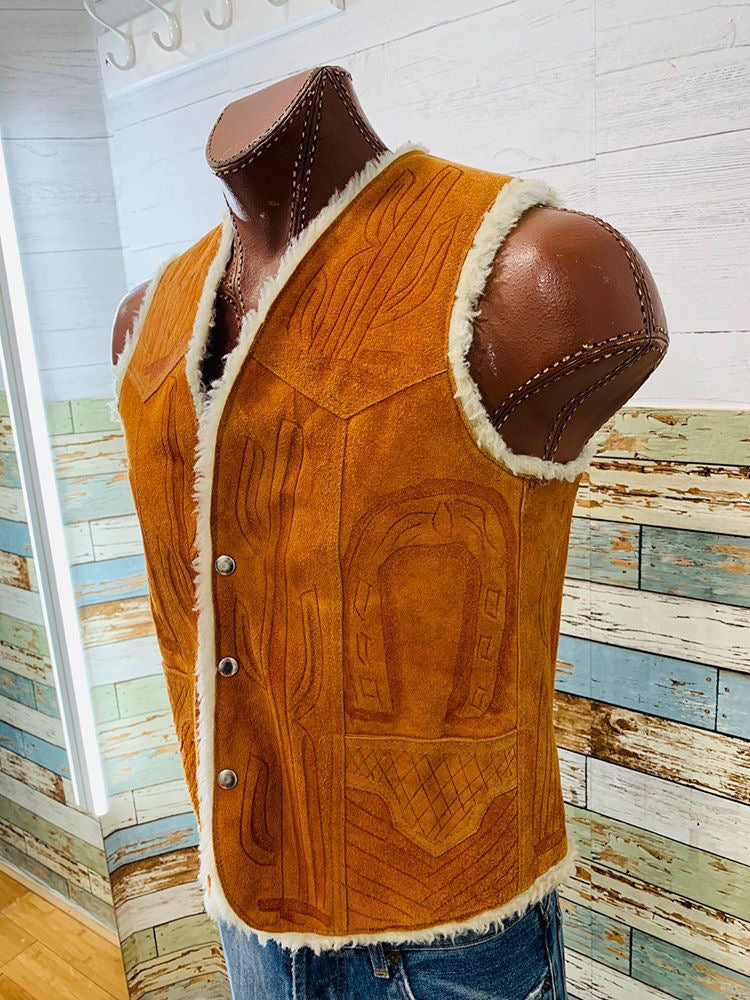 70's Suede Leather Western Vest