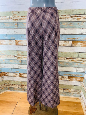 70s Hilton Head . High Waisted Plaid Pants - Hamlets Vintage