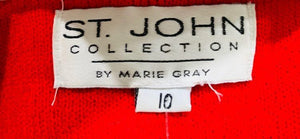 90s Suit Skirt Set  By St John Collection Tag size 10