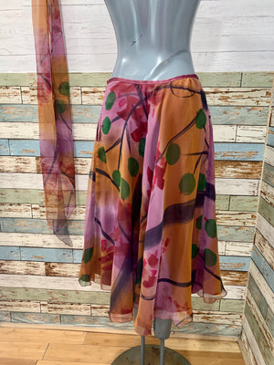 80s Sheer Print four Piece Set