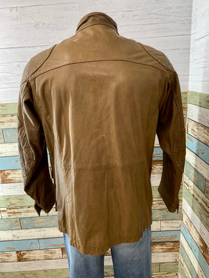 90s leather Jacket with front pockets