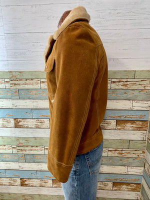 70s Suede Jacket With Collar