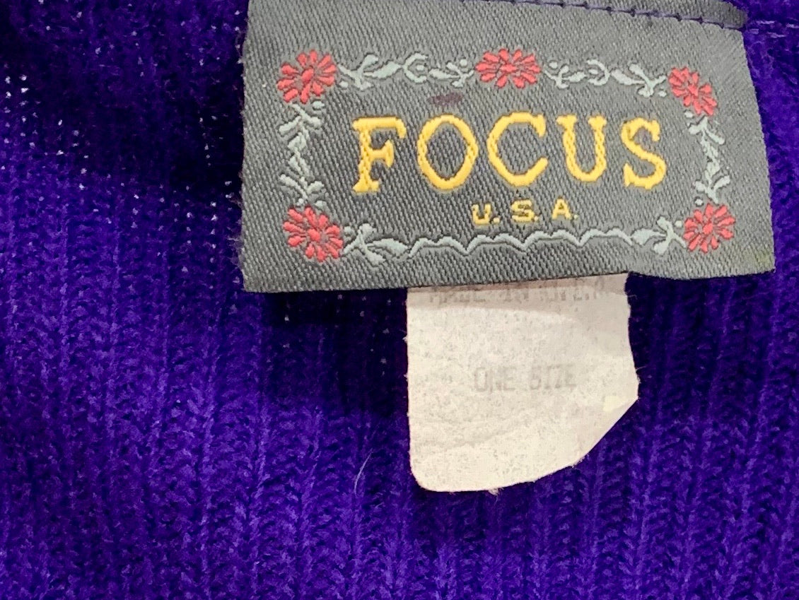 80's V-neck Acrylic Sweater With Star Studs by Focus U.S.A.