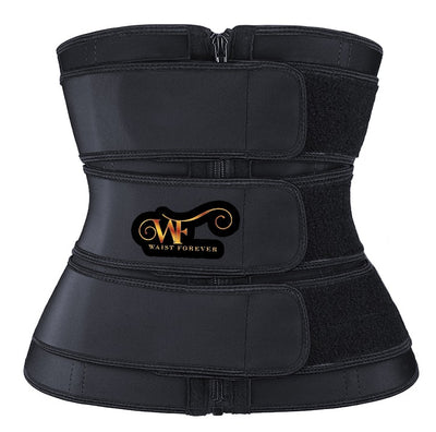 Maximillia:3 Straps Waist Trainer Black Beauty