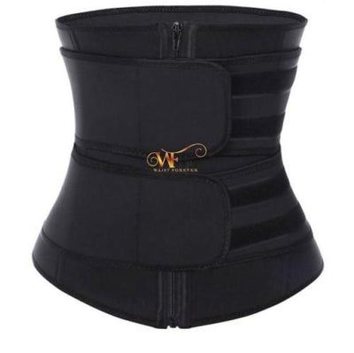 Zaria: 2 Straps Waist Trainer Black Beauty