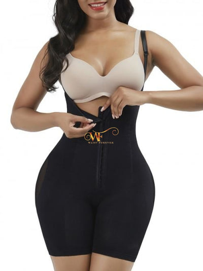 Joelyne: Body Shaper With Hooks + Crouch Opening Shapewear Body Shaper