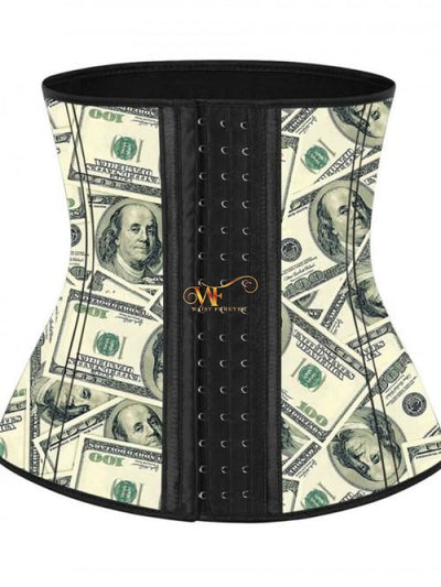 Milly: Latex Hook Up Waist Trainer Money Design