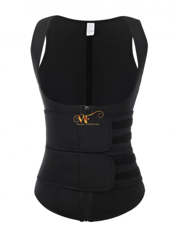 Zaria Vest: 2 Straps Waist Trainer Black Beauty