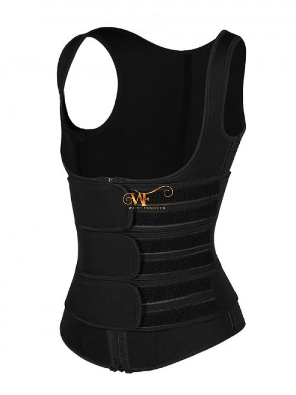 Zaria Vest Ii: 3 Straps Waist Trainer Black Beauty