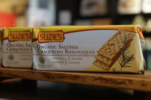 Organic Rosemary and Sesame Saltines