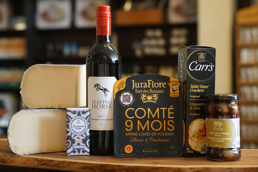 Wine and Cheese Tasting Box with Comte