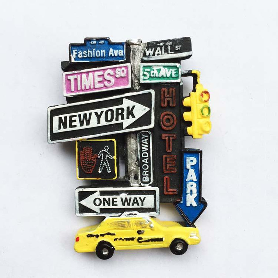 Magnet New York <br> Taxi Jaune