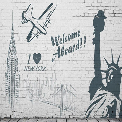 Papier Peint New York <br> Welcome Abroad